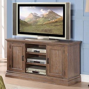 "Transitional 54"" Media Base with Wire Ports"