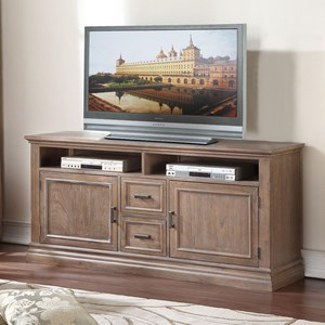 "Transitional 64"" Media Base with Wire Ports"