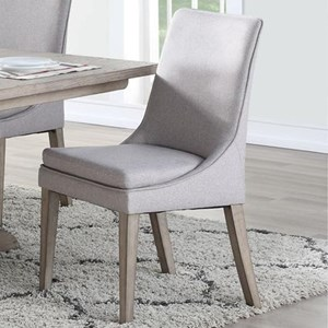 Transitional Sculpted Side Chair