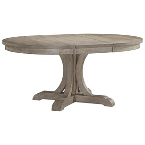 """Transitional Oval Dining Table with 18"""" Butterfly Leaf"""
