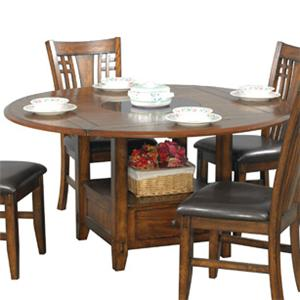 Round Dining Table with Granite Lazy Susan