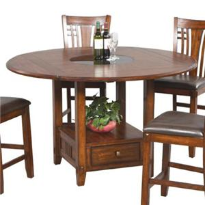 Round Counter Table w/ Round Granite Lazy Susan