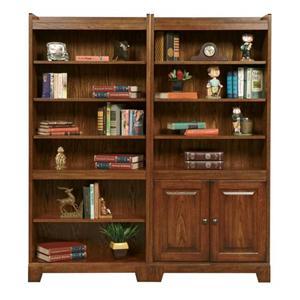 Door Bookcase with 4 Shelves and 2 Doors