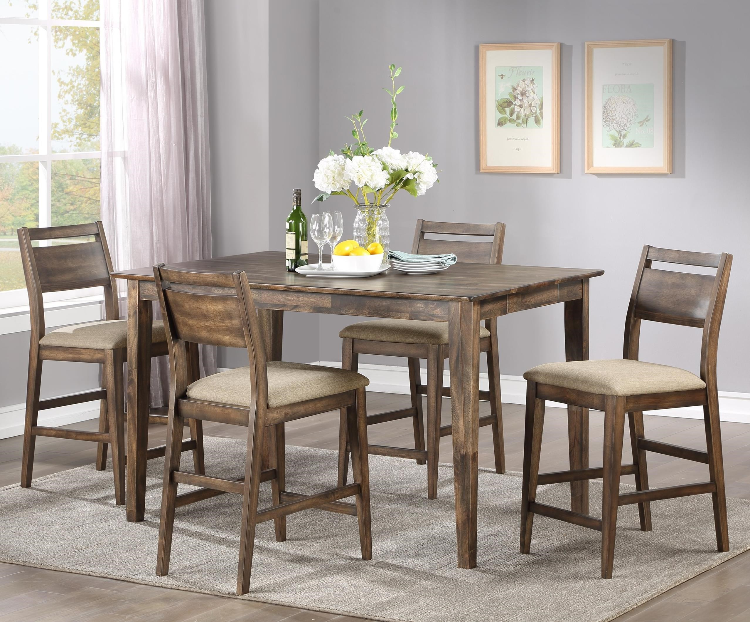 Zoey 5-Piece Counter Table Set by Winners Only at Michael Alan Furniture & Design