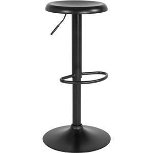 Adjustable Height Retro Barstool in Black Finish
