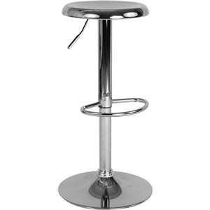 Adjustable Height Retro Barstool in Chrome Finish