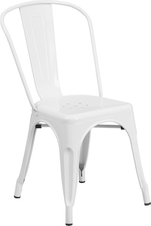 Metal Indoor-Outdoor Chairs White Metal Indoor-Outdoor Stackable Chair by Winslow Home at Sam Levitz Outlet