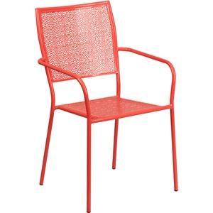 Coral Indoor-Outdoor Steel Patio Arm Chair w