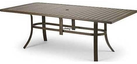 Cast Aluminum Tables 73 Inch Rectangle Dining Table by Winston at Johnny Janosik