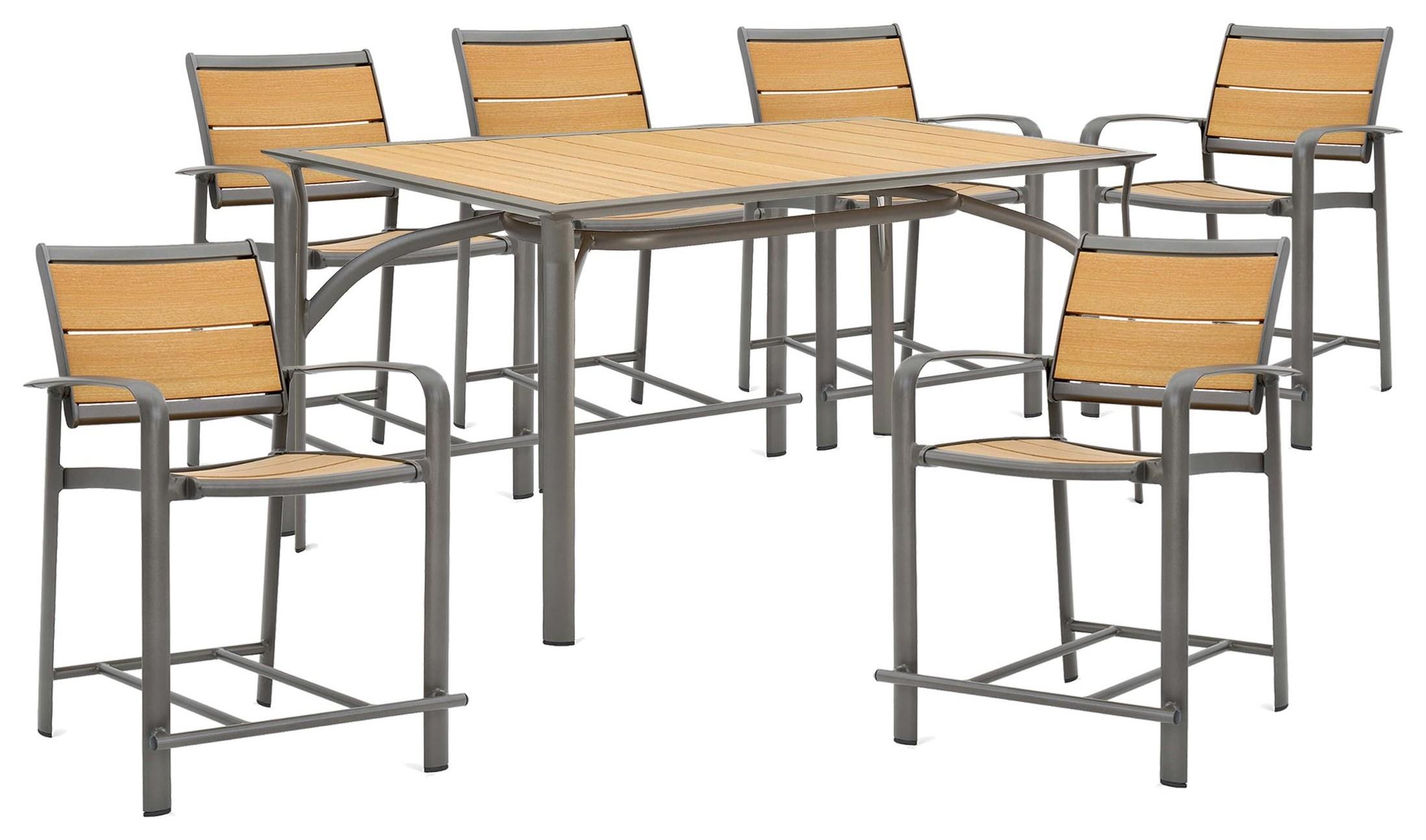 Harper 63 inch Balcony Table and Stools by Winston at Johnny Janosik