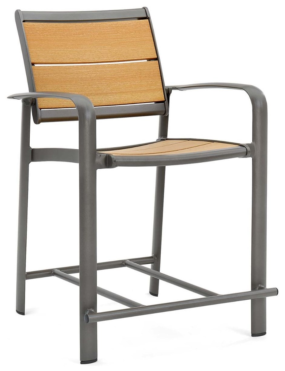 Harper Balcony Stool with Arms by Winston at Johnny Janosik