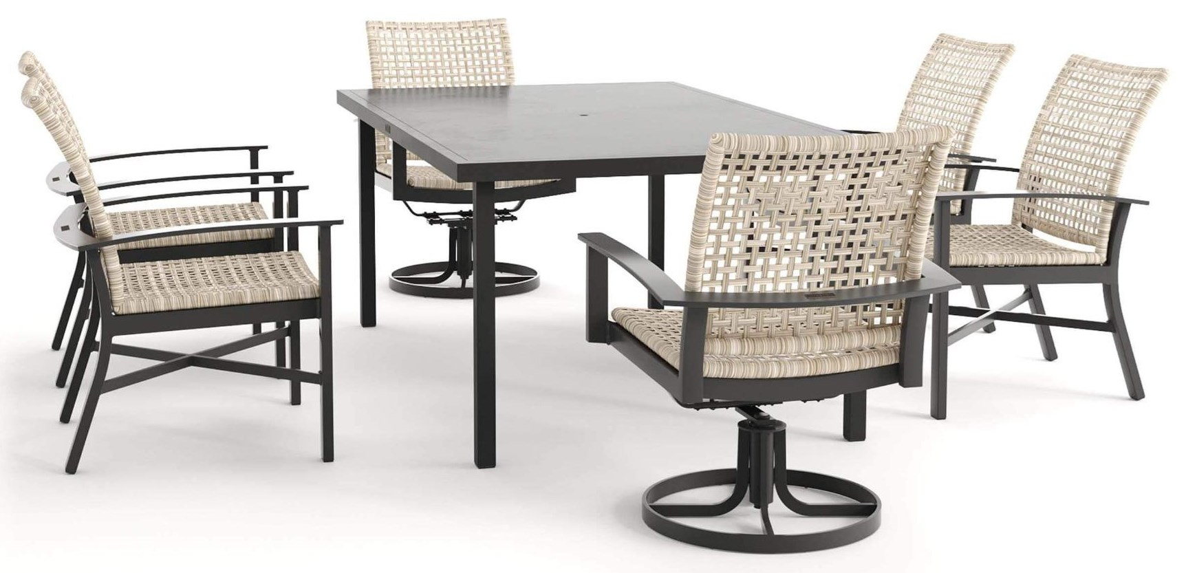Jasper HQ 72 Inch Table, Chair, Swivel Chair by Winston at Johnny Janosik