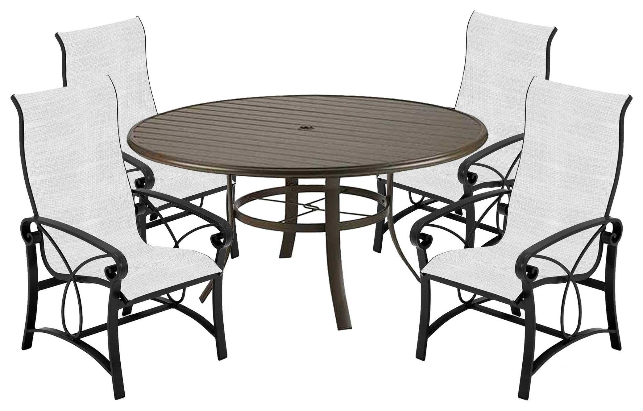 Palazzo Sling 54 Inch Table and Chairs by Winston at Johnny Janosik