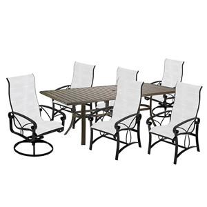 85 Inch Table, Chairs, Swivel Rocker