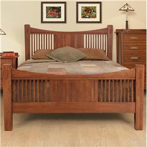 Queen Slat Panel Headboard & Footboard Bed