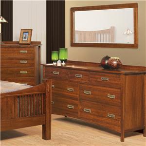 Witmer Furniture Heartland Dresser and Mirror