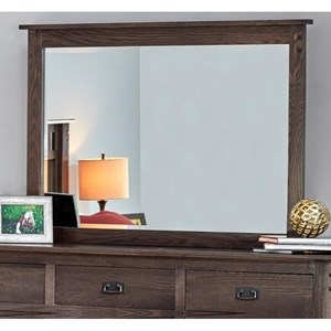 Beveled Mirror with Solid Wood Frame