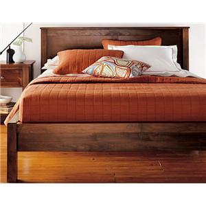 Full Size 2 Panel Platform Bed with 12-Wood Slats