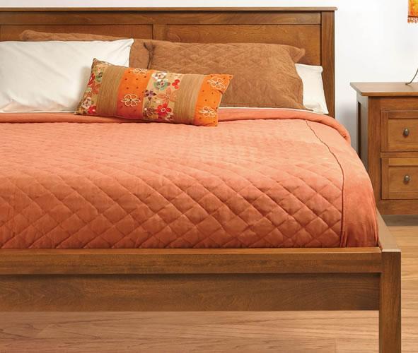 Taylor J King Size 2 Panel Tall Platform Bed by Witmer Furniture at Mueller Furniture