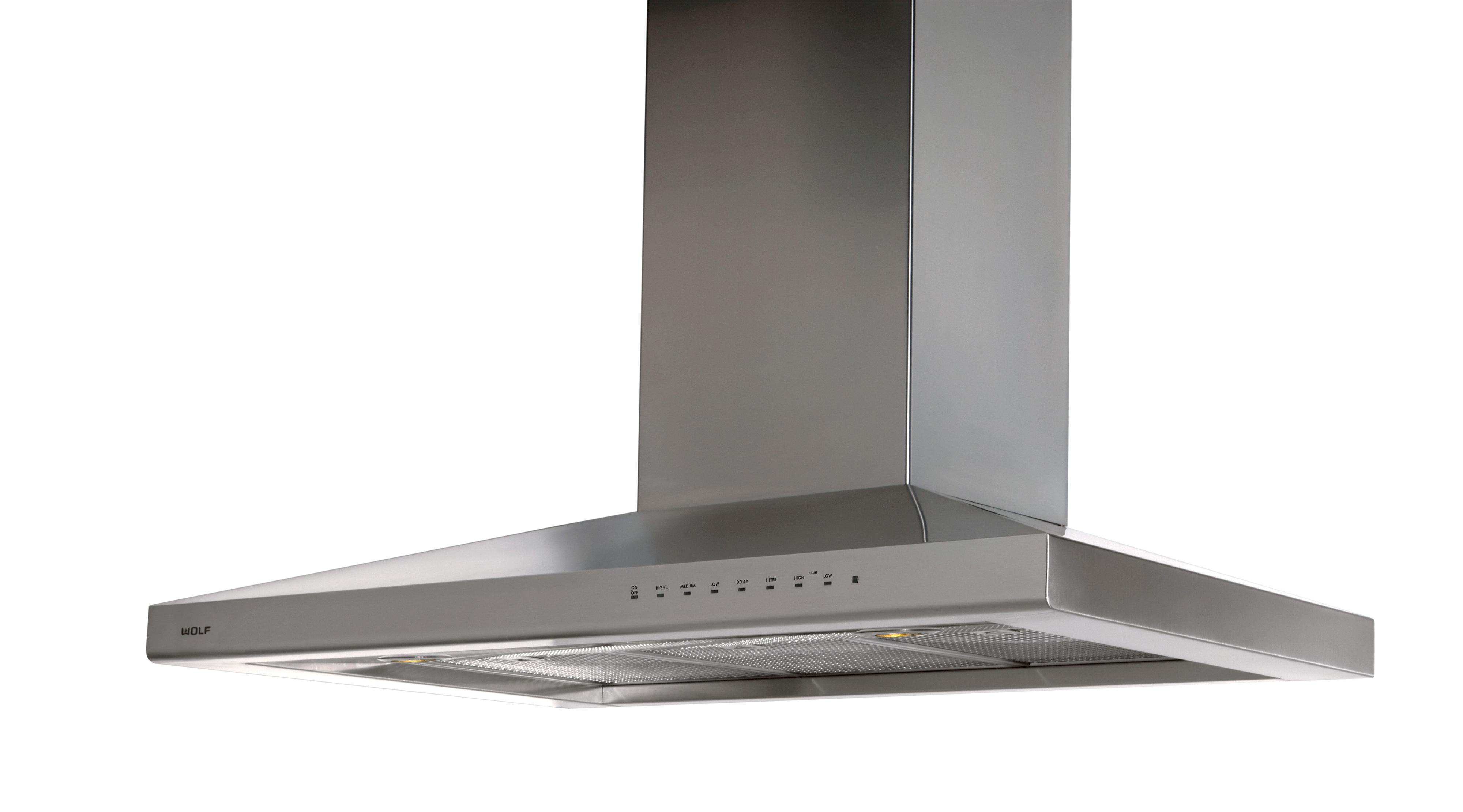 """Cooktop Ventilation 42"""" Island Ventilation Hood by Wolf at Furniture and ApplianceMart"""