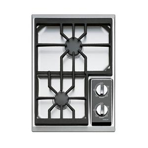 """15"""" Built-In Gas Cooktop with 2 Burners"""