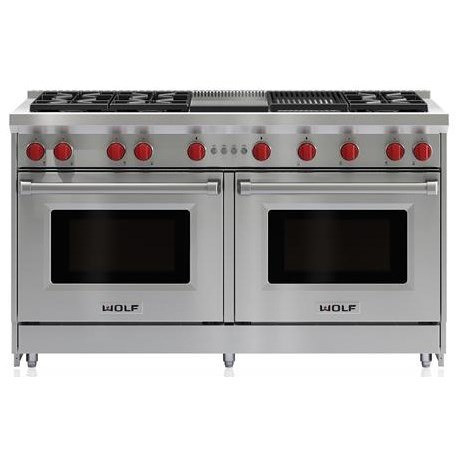 "Gas Ranges 60"" Gas Range by Wolf at Furniture and ApplianceMart"