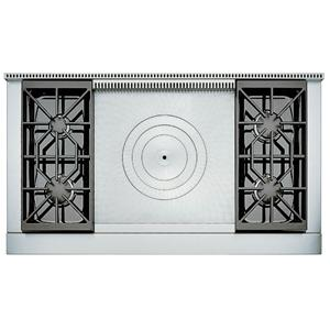 "48"" Built-In Gas Rangetop with 4 Sealed Burners and French Top"