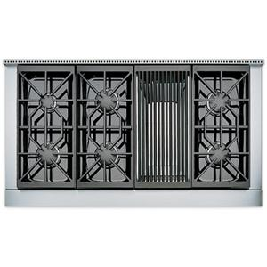"48"" Built-In Gas Rangetop with 6 Sealed Burners and Charbroiler"