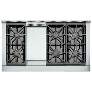 "48"" Built-In Gas Rangetop with 6 Sealed Burners and Griddle"