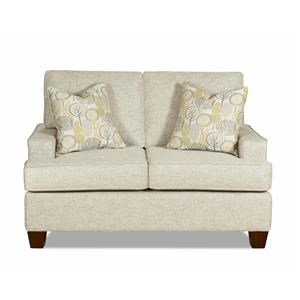 Modern Loveseat with Track Arms