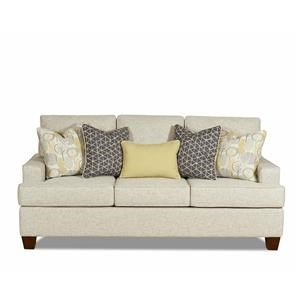 Modern Sofa with Track Arms and Extra Pillows