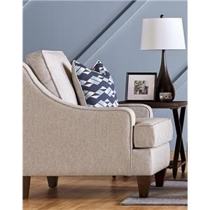 Modern Chair with Sloping Arms