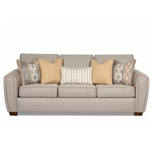 Modern Sofa with Rounded Angle Arms