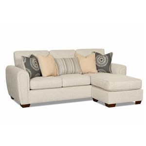 Modern Sofa Chaise with Rounded Angle Arms