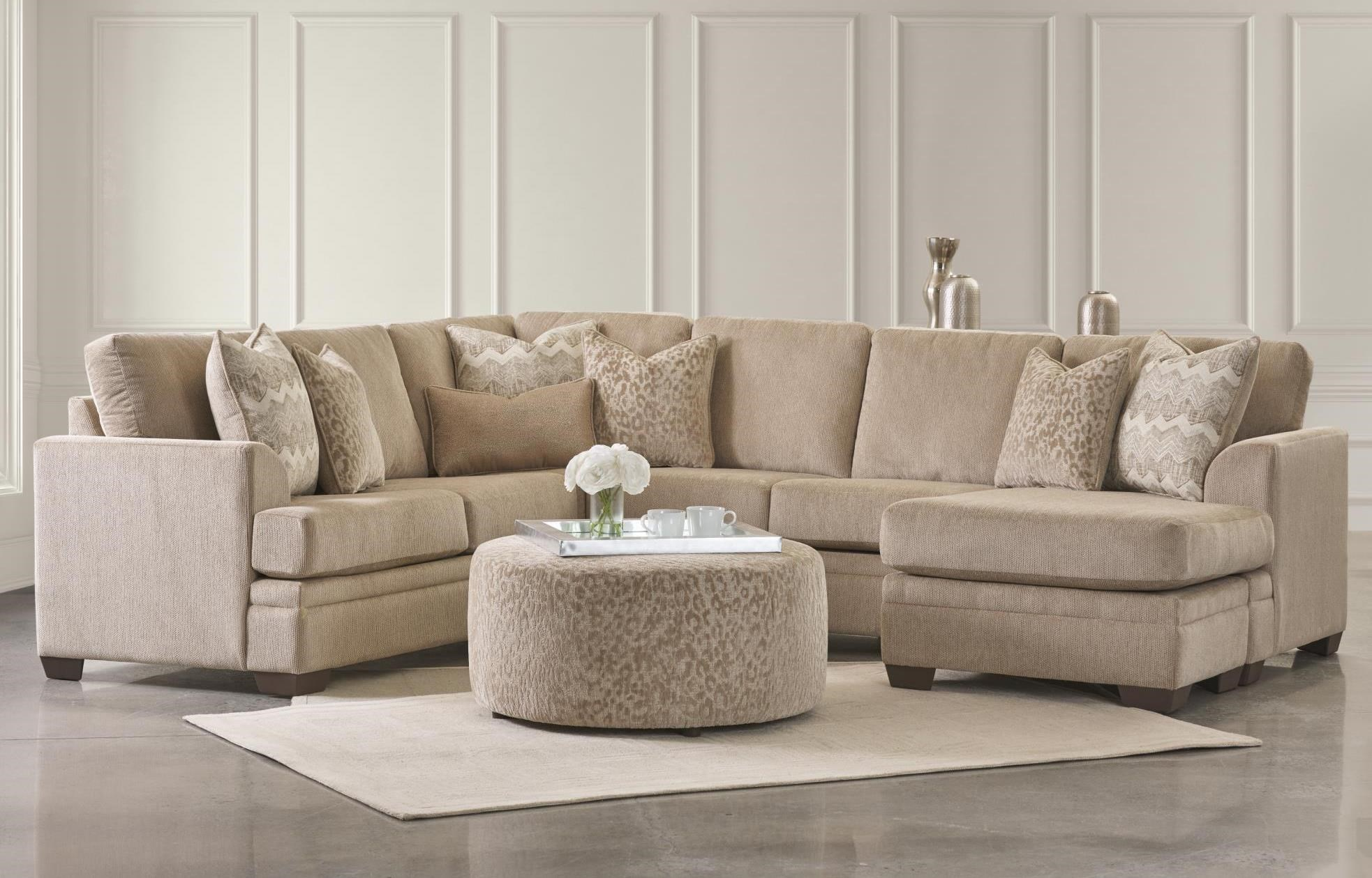 Venice Sectional Chaise Sofa w/ Ottoman Set at Rotmans
