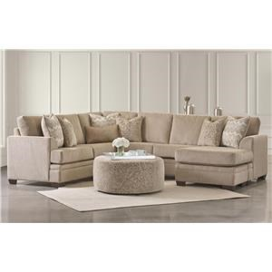 Sectional Chaise Sofa w/ Ottoman Set