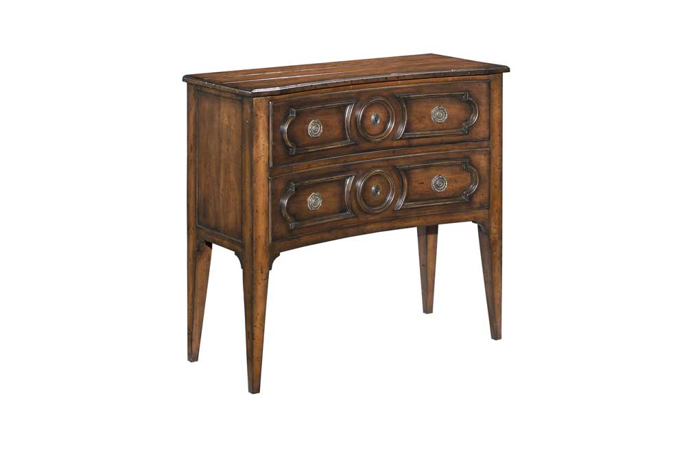 Home Accents Concave Hall Chest by Woodbridge at Baer's Furniture