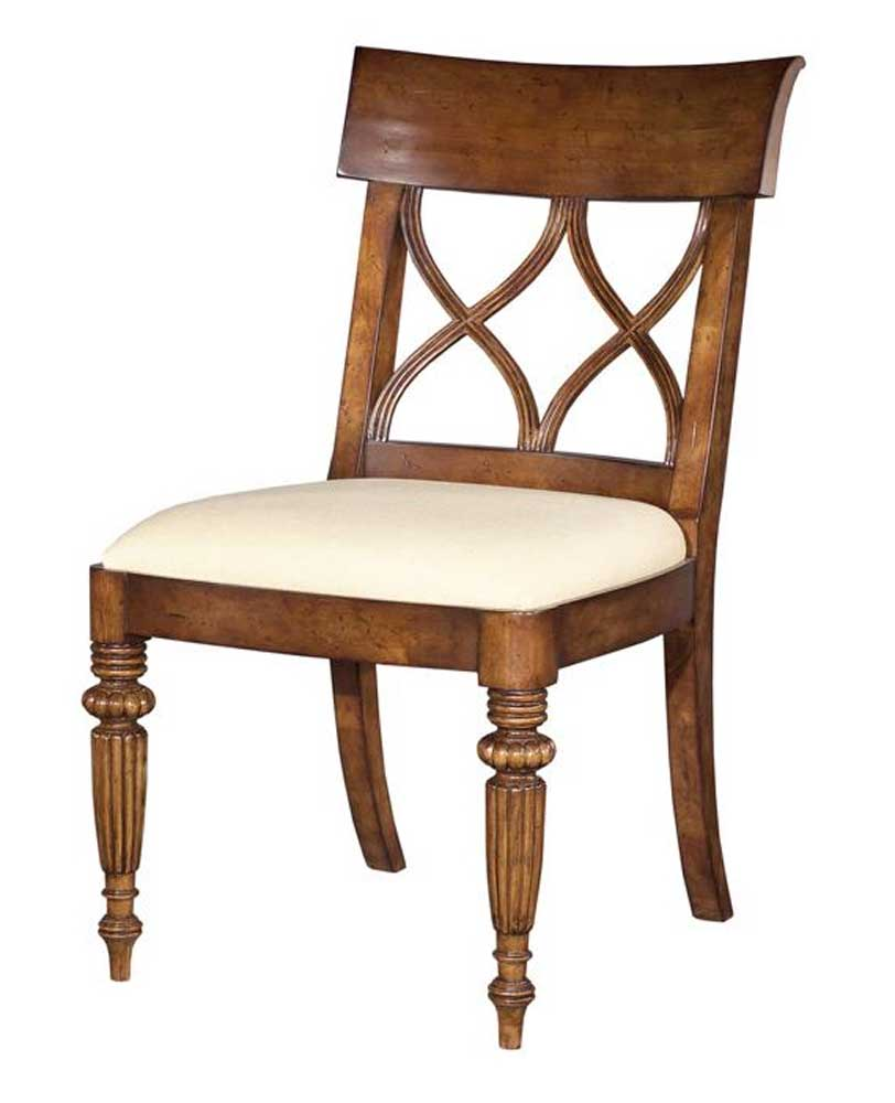 Home Accents French Double-X Back Side Chair by Woodbridge at Baer's Furniture