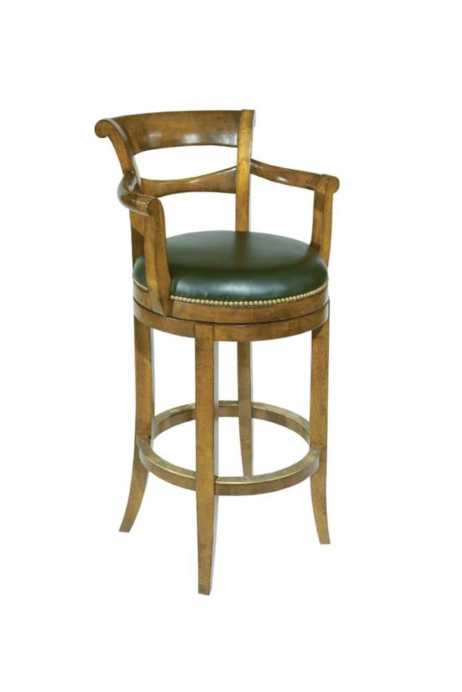 Home Accents Swivel Bar Stool by Woodbridge at Baer's Furniture