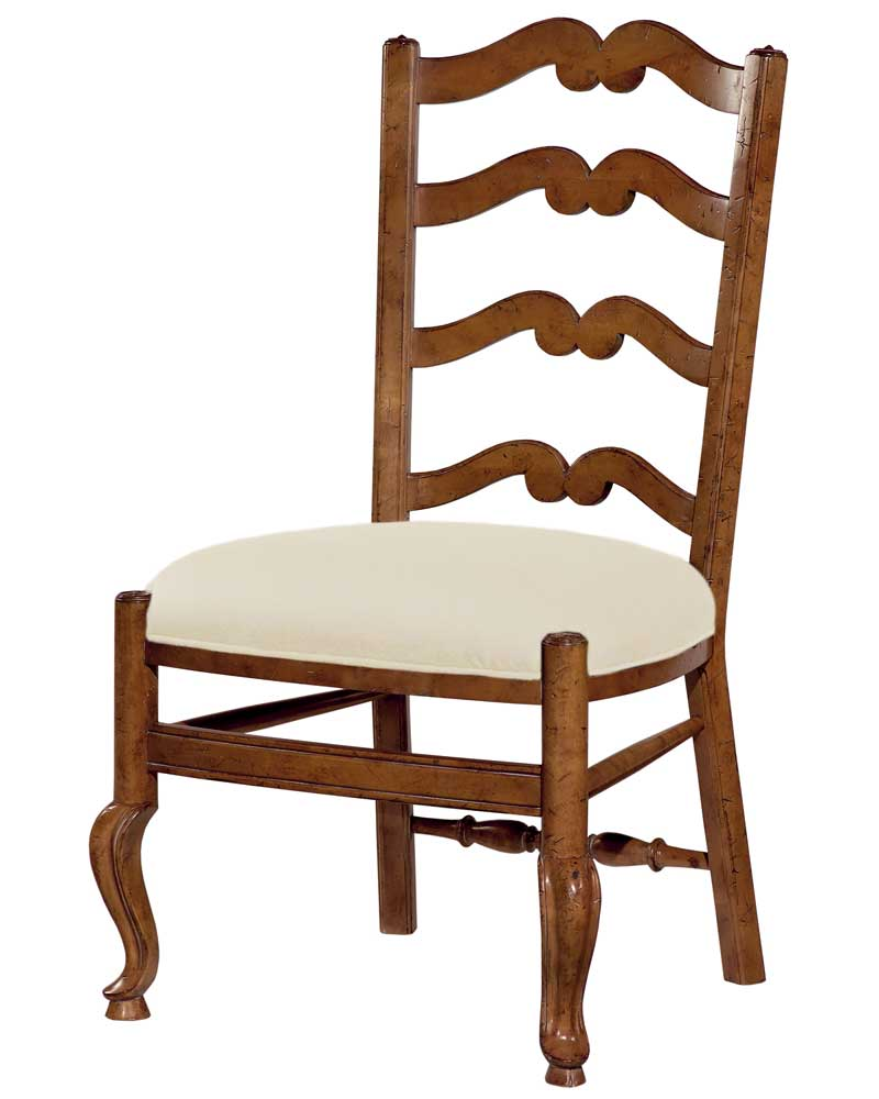 Home Accents Ladder Back Side Chair by Woodbridge at Baer's Furniture