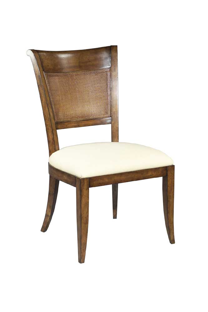 Home Accents Saber Leg Side Chair by Woodbridge at Baer's Furniture