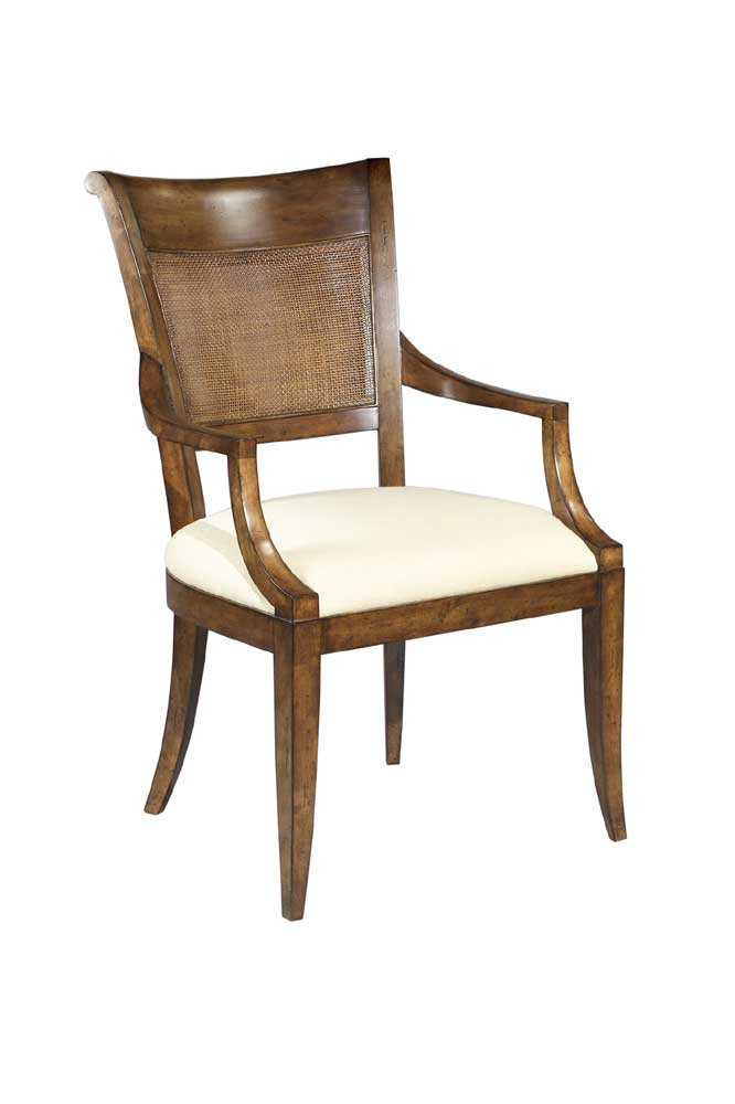 Home Accents Saber Leg Arm Chair by Woodbridge at Baer's Furniture