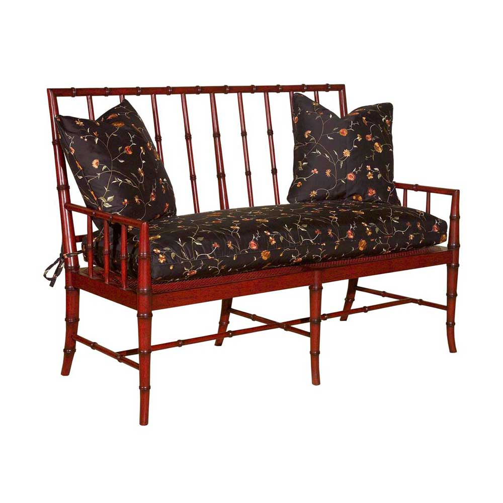 Home Accents Bamboo Regency Settee by Woodbridge at Baer's Furniture