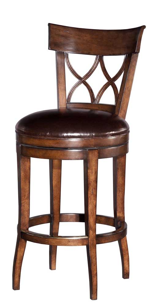 Home Accents Armless Swivel Bar Stool by Woodbridge at Baer's Furniture