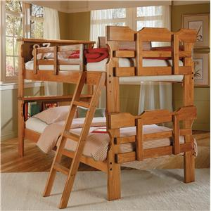 Loft Bed Twin Over Full With Five Drawer Chest