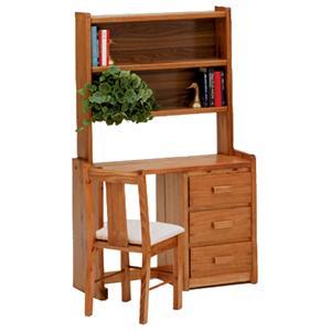 Woodcrest Heartland BR Desk and Hutch Set