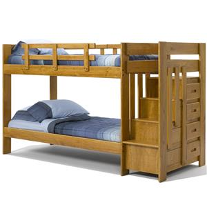 Twin Over Twin Reversible Stair Bunk Bed