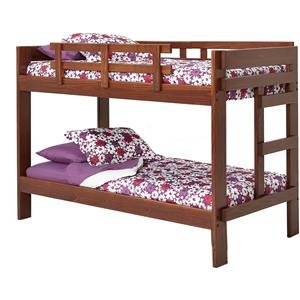 2 x 6 Wooden Twin Size Bunk Bed