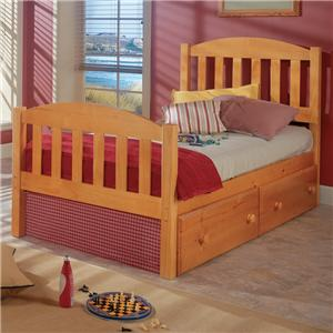 Full Pine Mission Bed with Slats