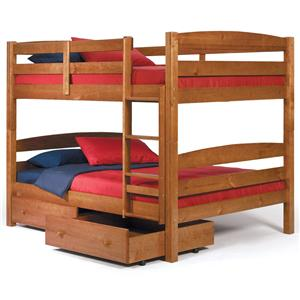 Square Post Full Over Full Size Bunk Bed